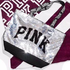 Victoria's Secret PINK Sequin Bling Tote Bag Purse